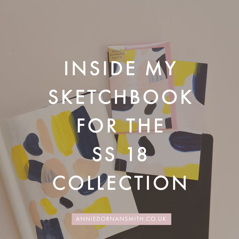 inside my sketchbook for the ss18 collection - a look at the behind the scenes design process of creating an illustration based stationery collection