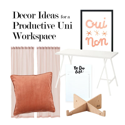 Decor Ideas for a Productive Uni Workspace