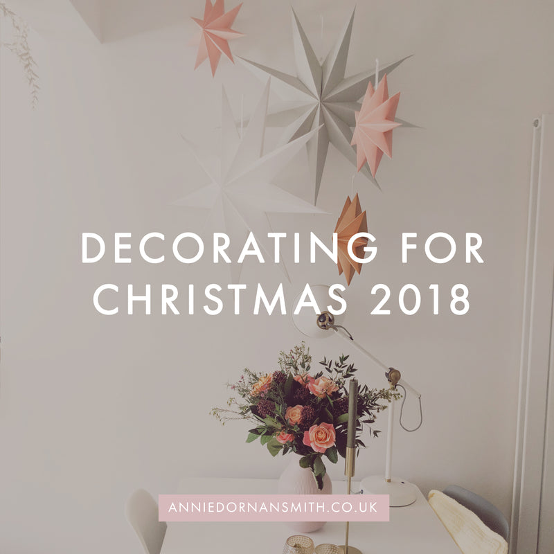 Decorating for Christmas 2018