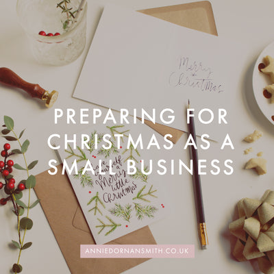 Preparing For Christmas This Year (As A Small Business)