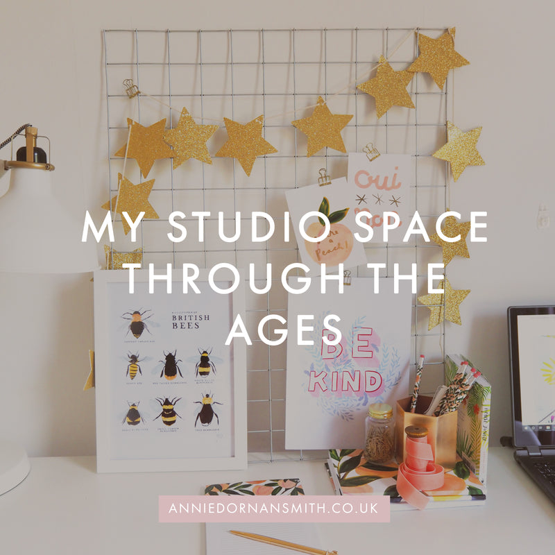 My Studio Space Through The Ages
