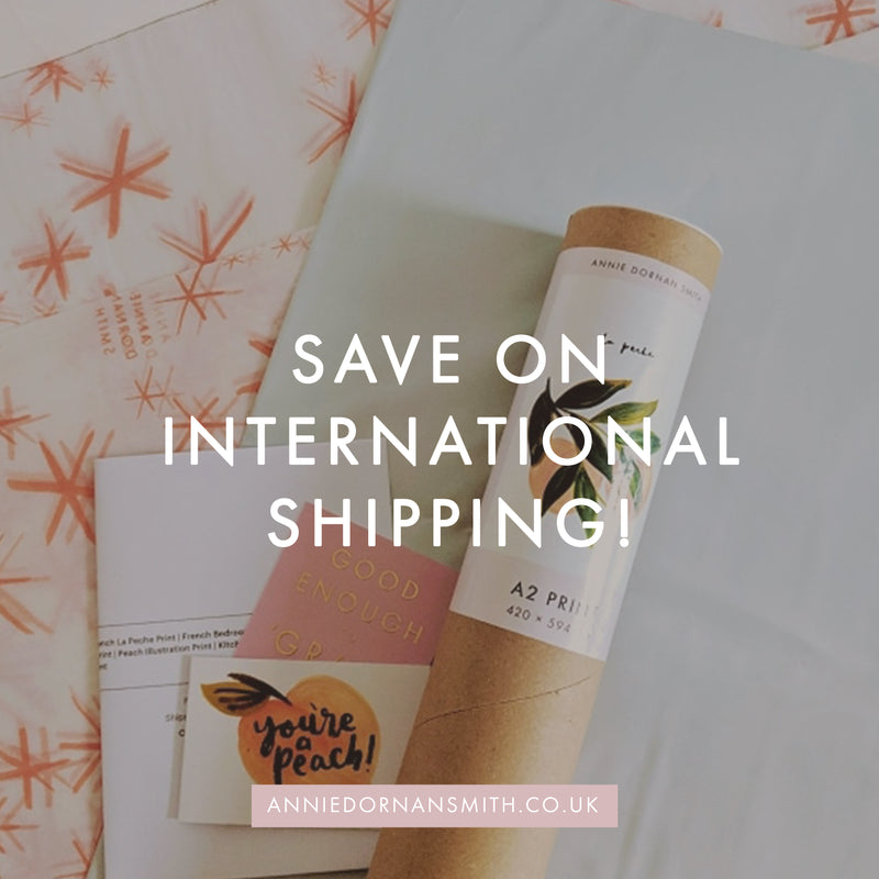 Save on international and Eu shipping graphic