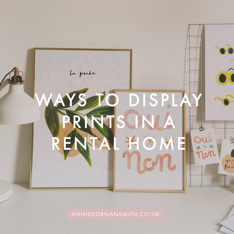 6 Ways to Display Prints in a Rental Home