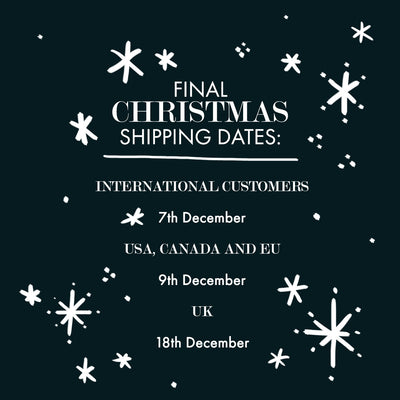 Final Shipping Dates for Christmas 2020