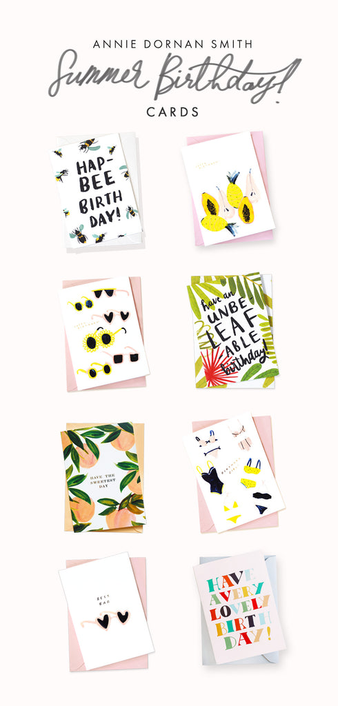 Annie Dornan Smith - Summer Birthday Card Selection!