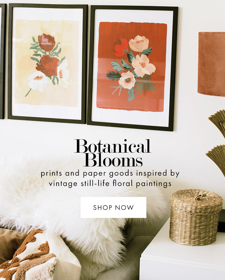 unique Illustrated floral wall art prints