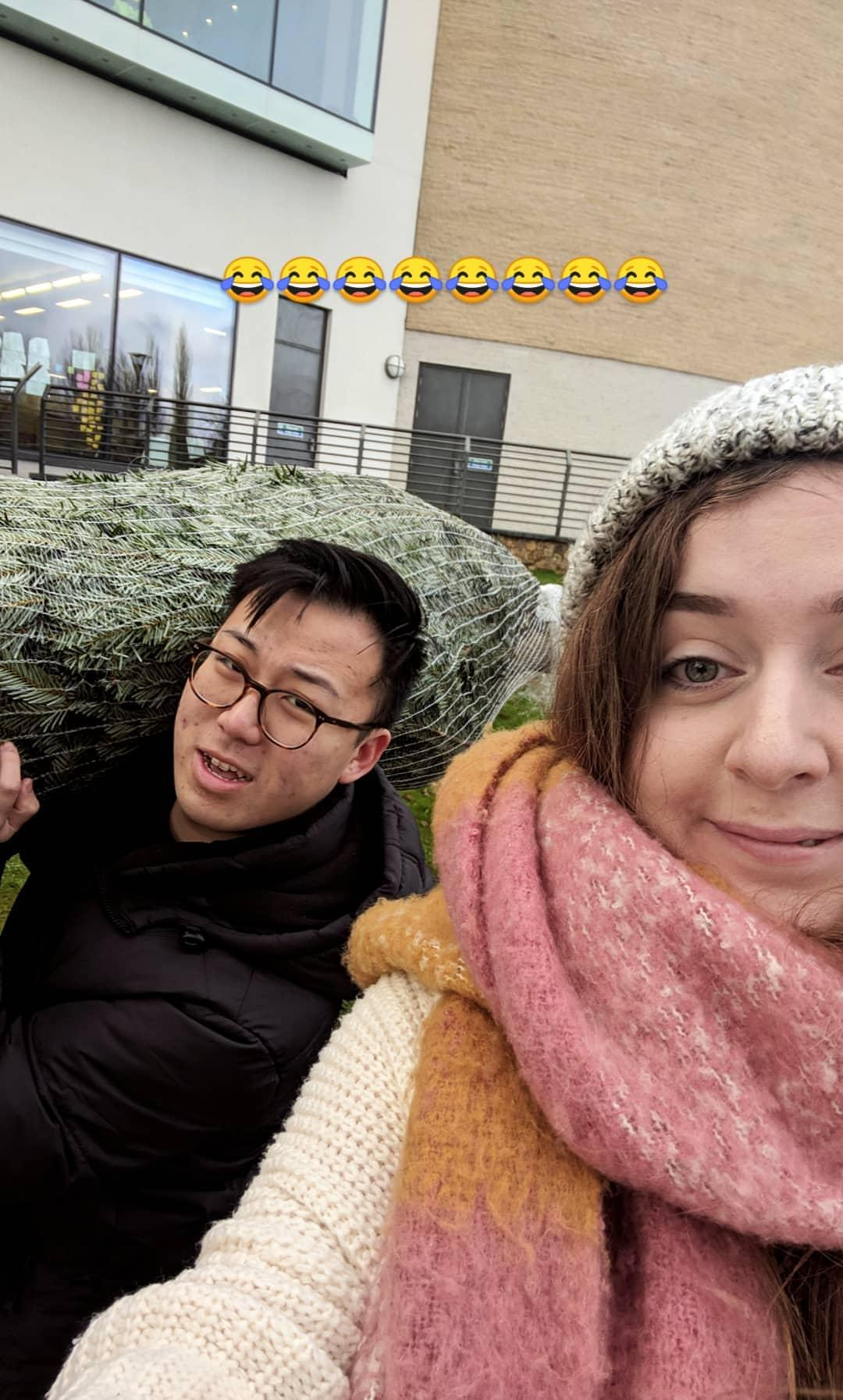 picking up the Christmas tree!