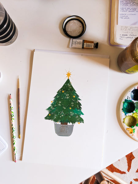 a Christmas Tree illustration - Annie Dornan Smith