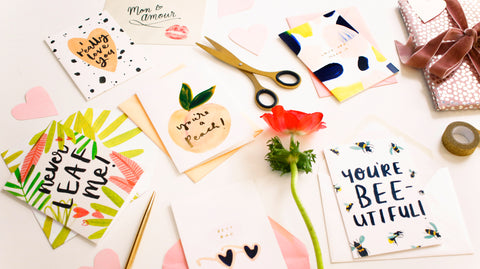 adorable valentines cards, scattered across a table