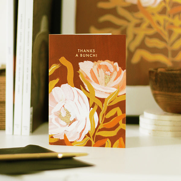 """Thanks a Bunch"" Floral Thank You Card - Annie Dornan Smith"