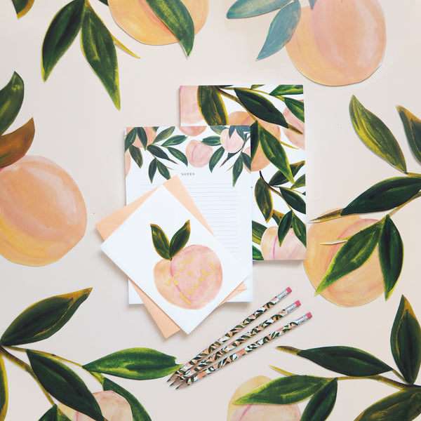 Peachy Keen Stationery Promo Image - Annie Dornan Smith