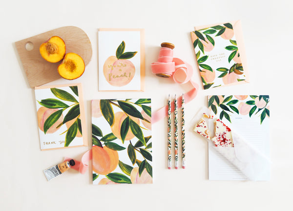 A Peachy Keen Flatlay - Annie Dornan Smith