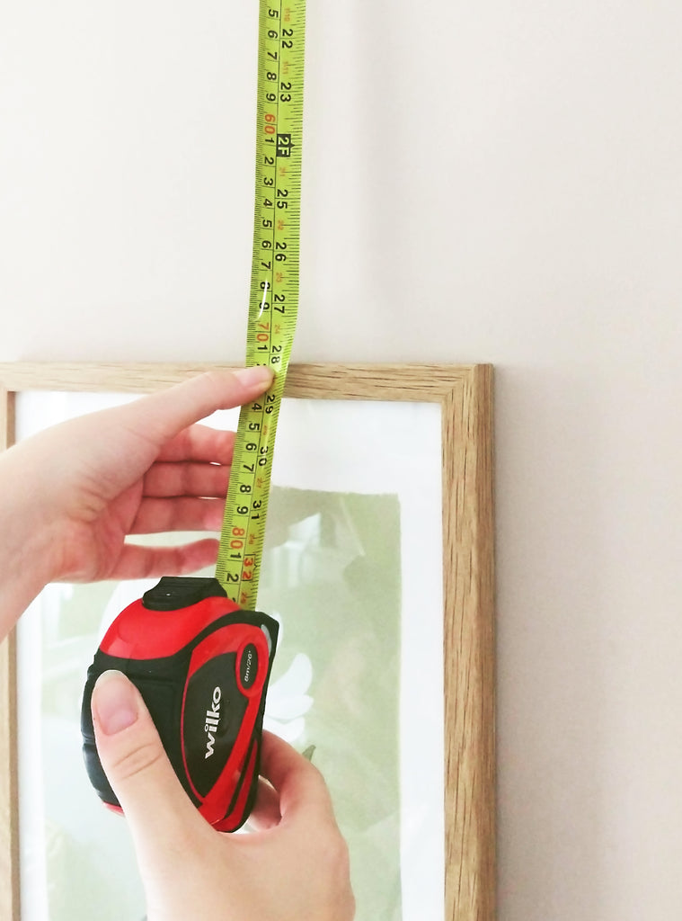 measuring the distance to the top of the frame