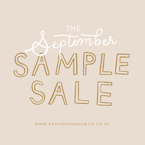 September Sample Sale Graphic