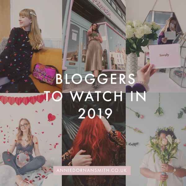 Bloggers to Watch in 2019 Graphic - Annie Dornan Smith
