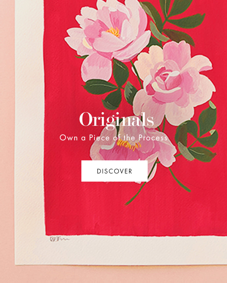 Originals - discover original floral paintings and own a part of the process!