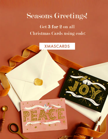 Seasons Greetings!  Get 3 for 2 on all   Christmas Cards using code XMASCARDS