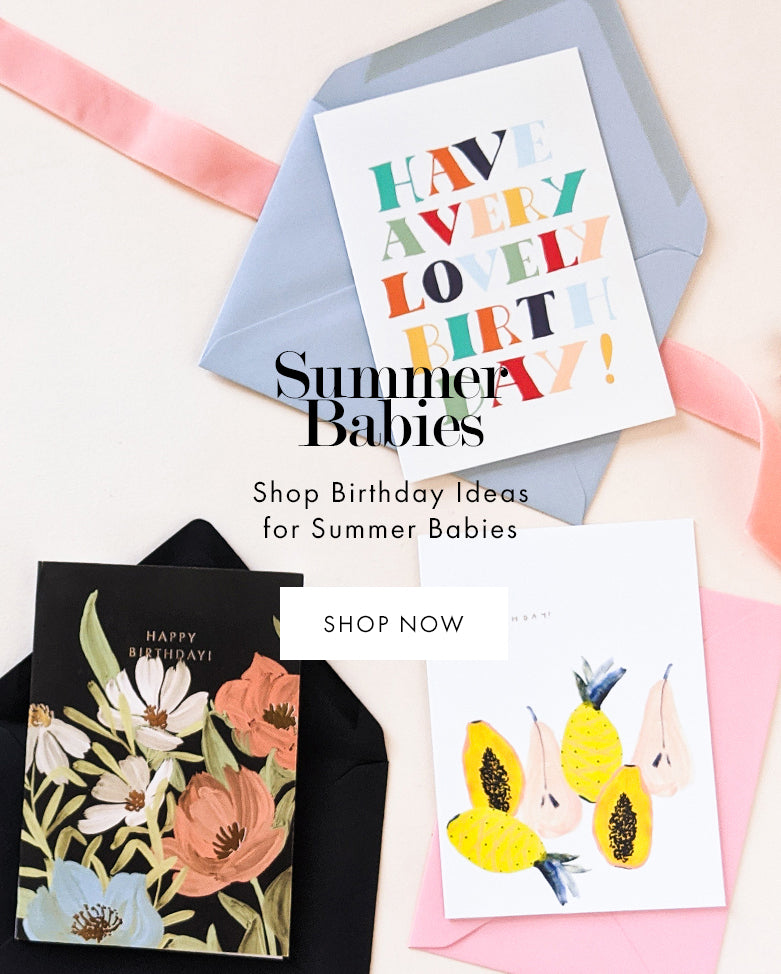 Summer Babies - shop unique birthday cards and gift ideas for summer birthdays