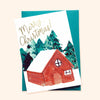 Illustrated Christmas Chalet Card