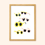 sunglasses a3 wall art