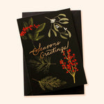 Botanical Foliage Illustrated Christmas Card