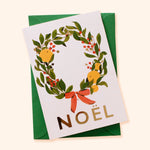 NOEL Illustrated Wreath Christmas Card