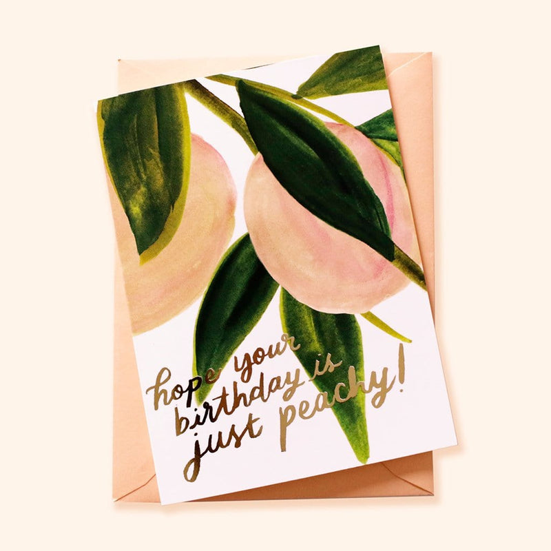 peach birthday card