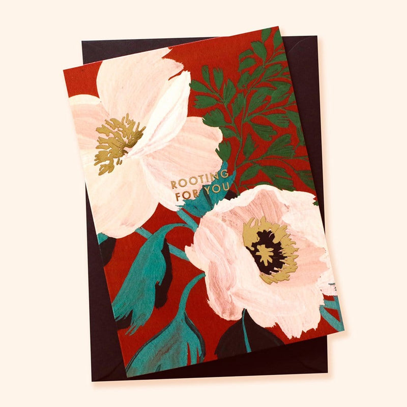 floral botanical encouragement card