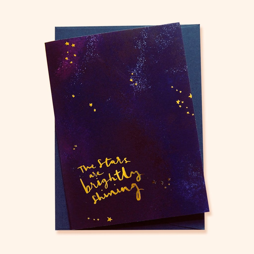 "Magical Galaxy Christmas Card - ""Brightly Shining - Annie Dornan-Smith Design"