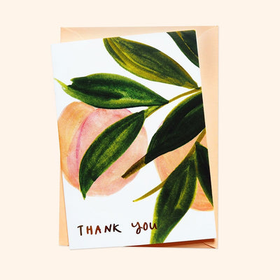Peach Thank You Card - Annie Dornan-Smith Design