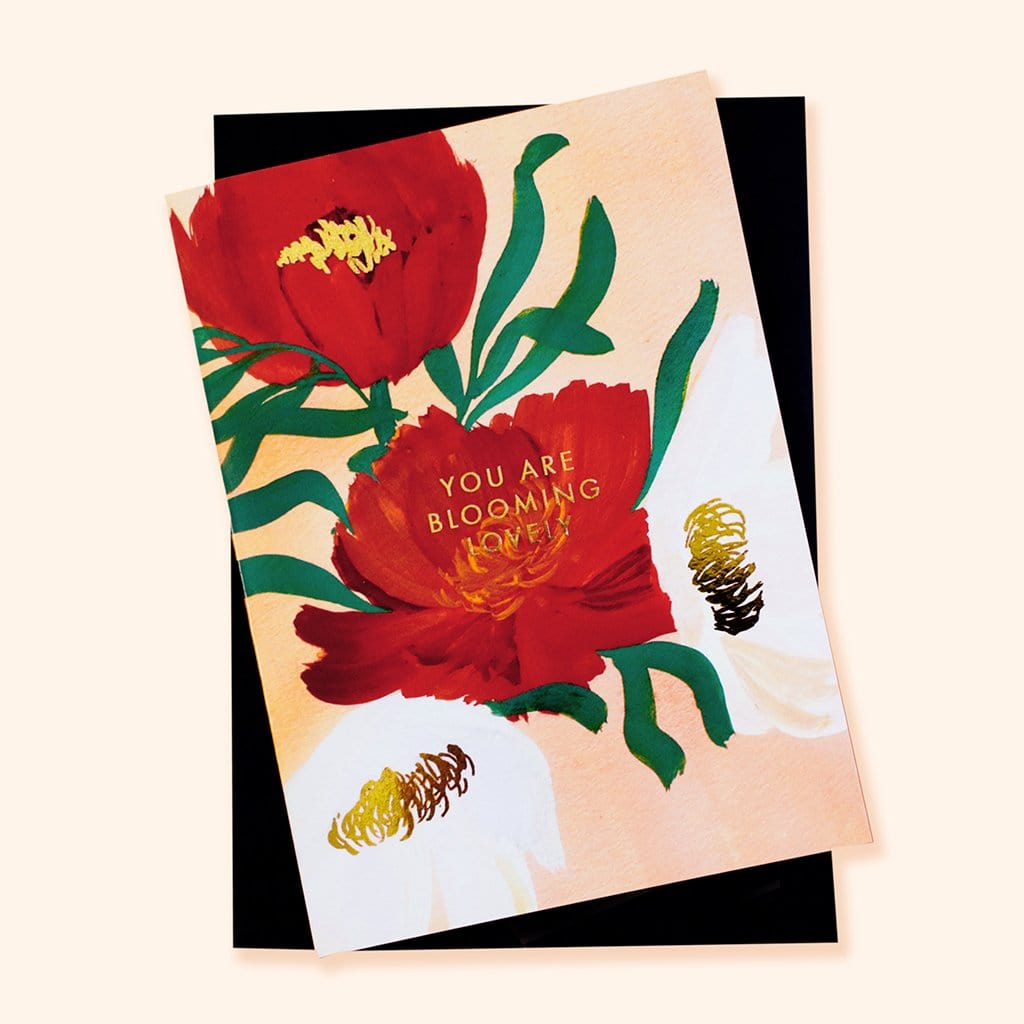 Blooming Lovely Floral Card - Valentine's Day / Friendship Card