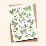 Deck the Halls Scandi Christmas Card