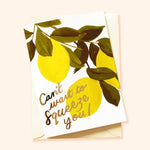 illustrated lemon miss you card