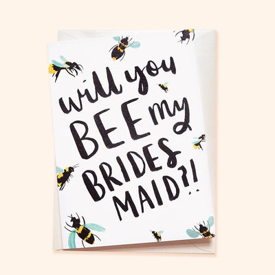 Bee Lovers bridesmaid proposal card