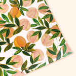 peach patterned wrapping paper