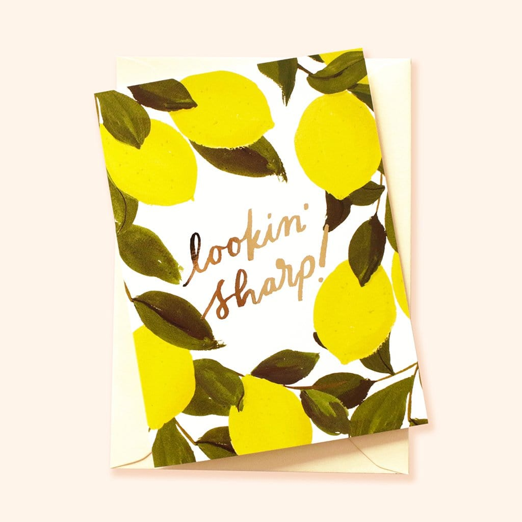 playful lemon valentine's card pun