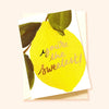 illustrated lemon thank you card