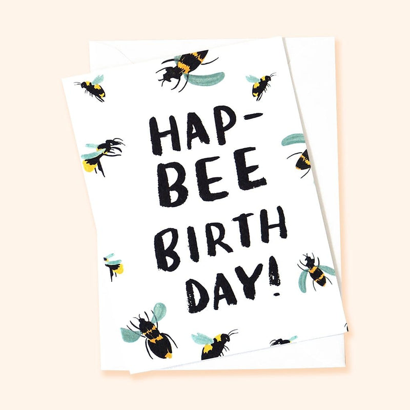 bee themed birthday card