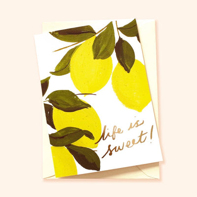 life is sweet congratulations card