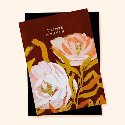 Botanical Flower Thank You Card