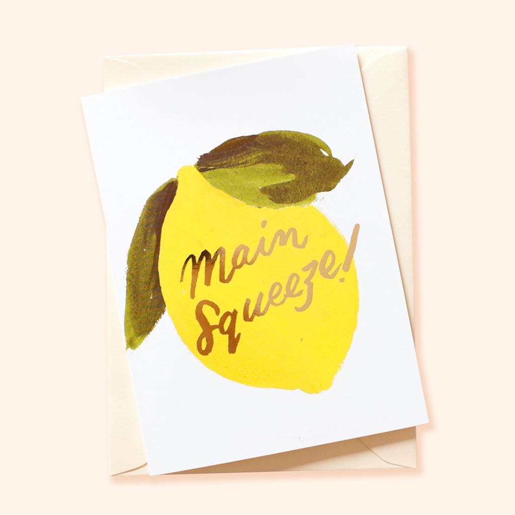 main squeeze lemon valentine's card