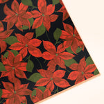 Poinsettia Christmas Wrapping Paper Sheet