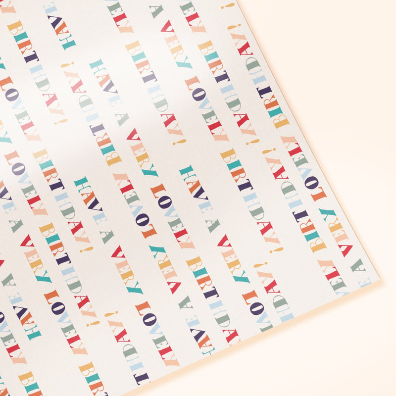 "Super Love ""Very Lovely Birthday"" Gift Wrap Sheet - PREORDER"