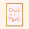Oui Non French Print A3
