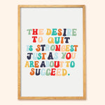 rainbow motivational print