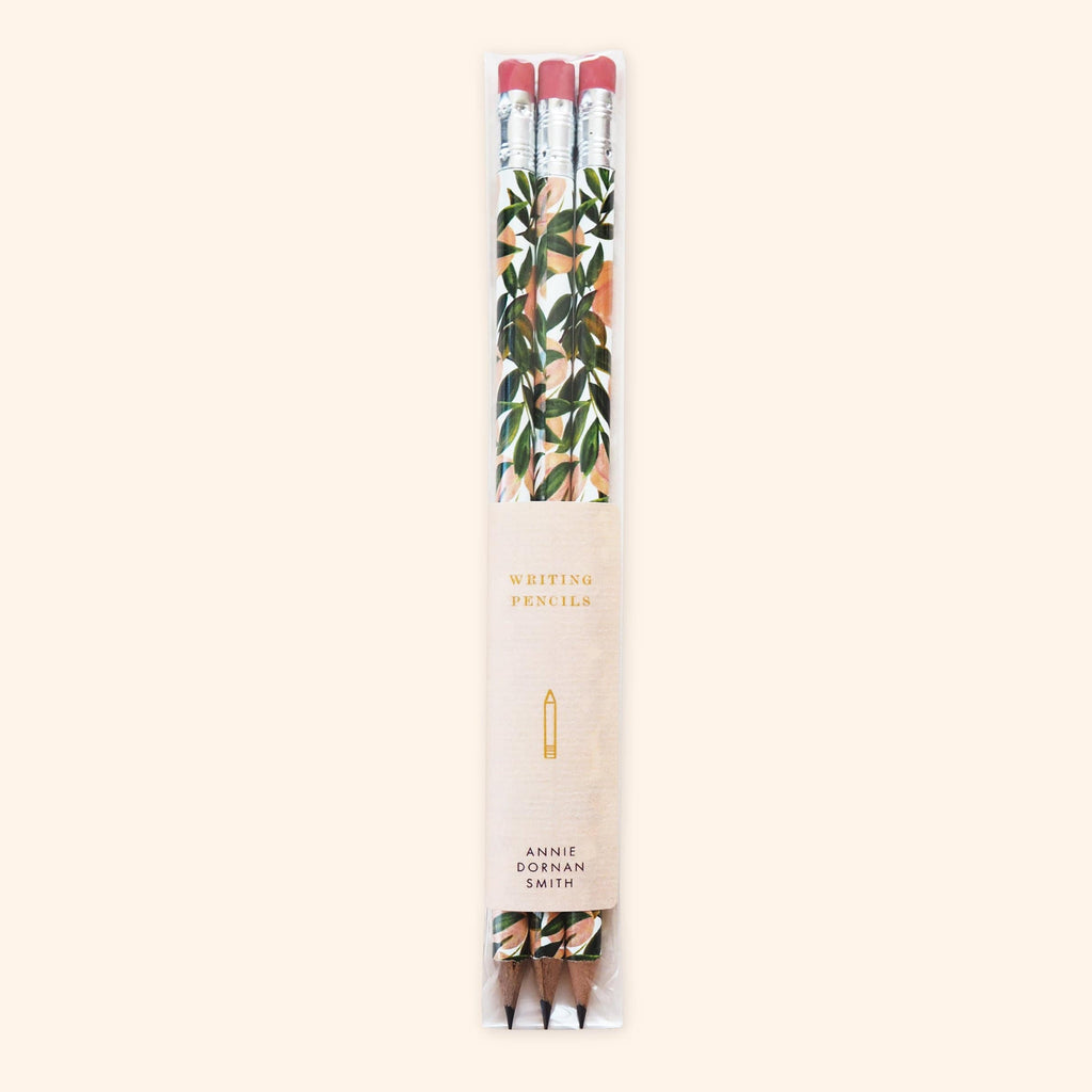 Peach Pattern Pencil Set - Annie Dornan-Smith Design