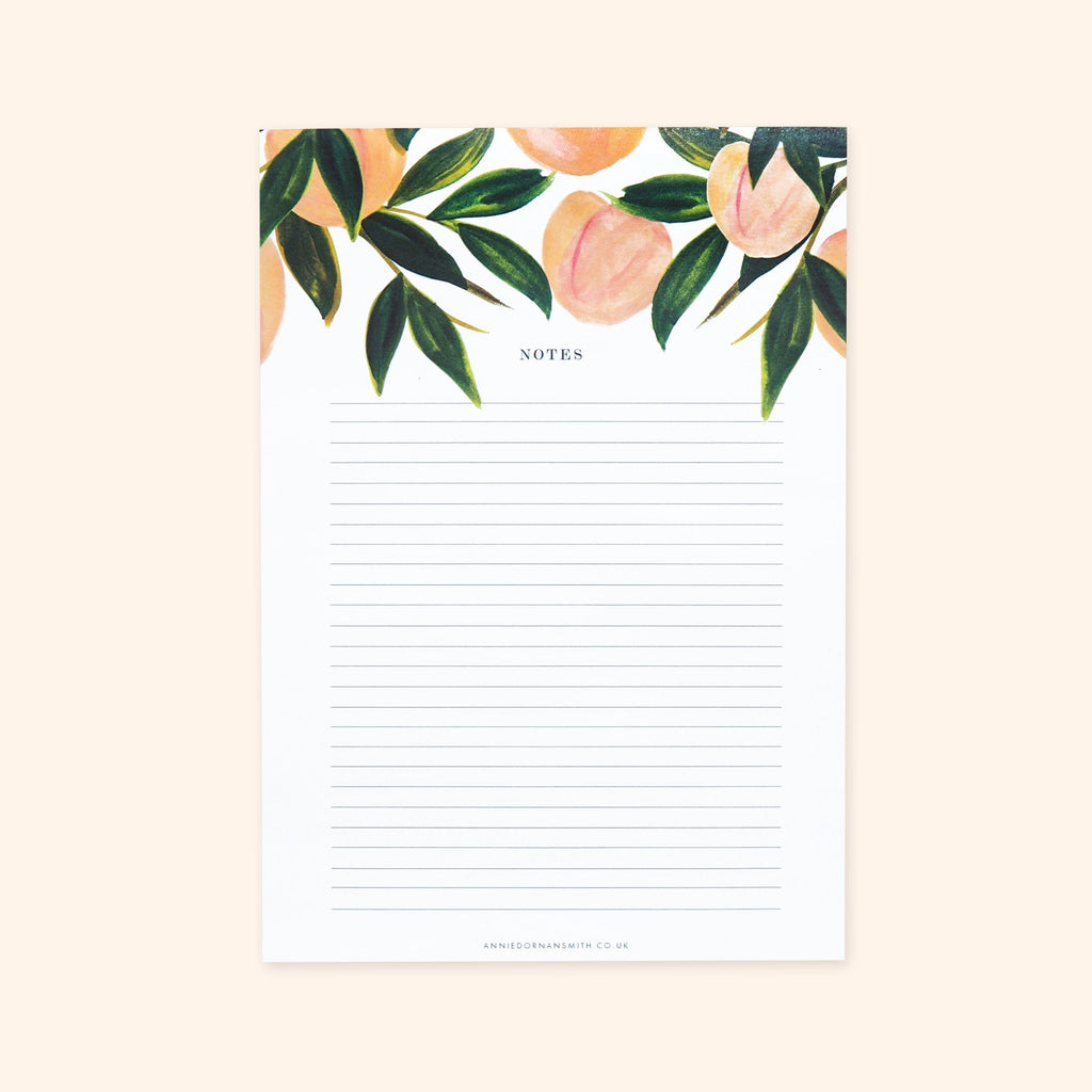 Peaches A5 Desk Pad - Annie Dornan-Smith Design
