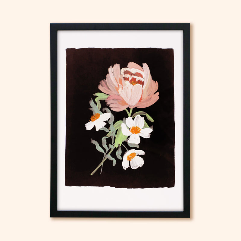 Paeonia - Illustrated Peony Floral Print