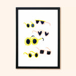 Sunglasses Children's Wall Art A3