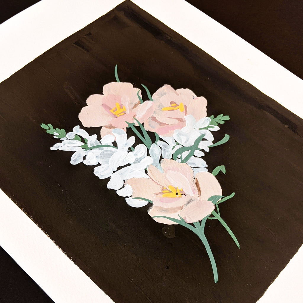 Original Painting - Lisianthus and Snapdragons